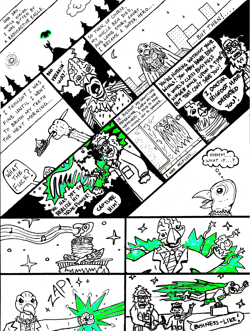 RADIOACTIVE EAGLE BUSINESS (by Marx McNeill and Nate Crone)